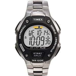 Timex - T5H971 SU Ironman 30 LAP - Quartz digitale - Montre Homme- Bracelet en acier et résine