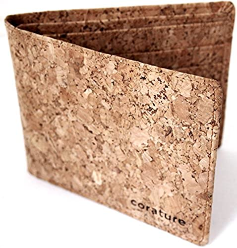 10. Slim Bifold Wallet: Unique Mens Wallet Made from Cork. Front Pocket Fit