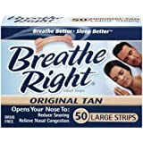 Breathe Right Tan Nasal Strips - Large, 50-count
