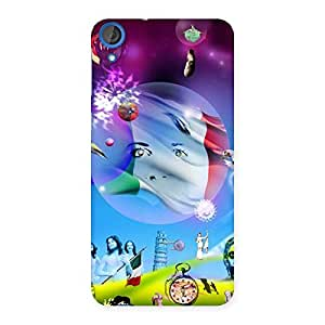 Ajay Enterprises Wonder Colorfull World Back Case Cover for HTC Desire 820s