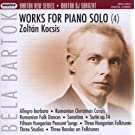 Bela Bartok: Oeuvres Pour Piano /Vol.4