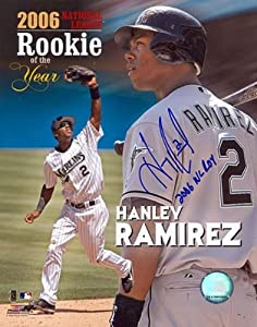 Hanley Ramrez ROY 2006 Autographed Florida Marlins Baseball 8x10 Photo - Autographed... by Sports+Memorabilia