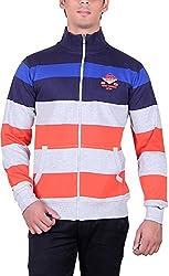 RGT Men's Fleece Regular Fit Sweatshirts (RGT6017ORANGE-L)