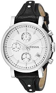 Fossil Women's ES3817 Original Boyfriend Analog Display Analog Quartz Black Watch