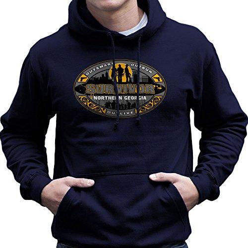 Outrun Outsmart Outlive Survivor North Georgia Walking Dead Men's Hooded Sweatshirt