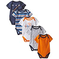 Nautica Baby-Boys Newborn 5 Pack Printed Bodysuit, Assorted