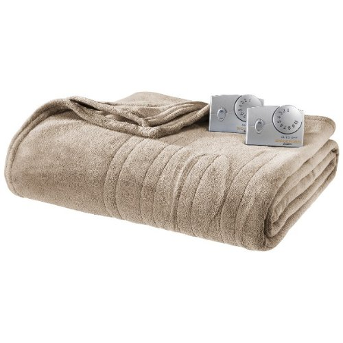 Learn More About Biddeford Micro Plush Heated Blanket Queen Size Taupe