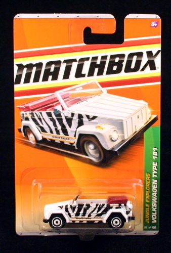 VOLKSWAGEN TYPE 181 * WHITE * Jungle Explorers Series (#4 of 6) MATCHBOX 2011 Basic Die-Cast Vehicle (#98 of 100) - 1