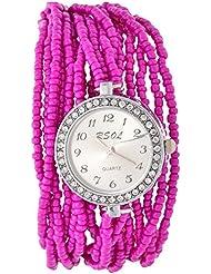 Swadesi Stuff Analog Pink Dial Women's Wrist Watch -ROUND_MOTI_PINK