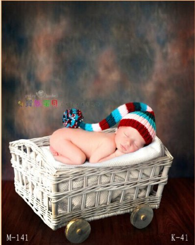 Newborn baby infant studio photography props handmade woven basket D-32