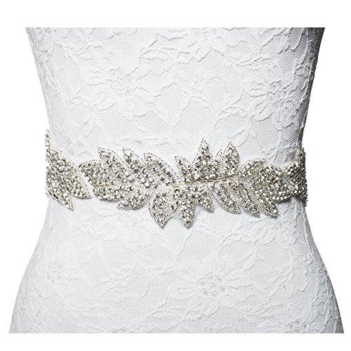 1 yard rhinestone bridal sash belt for wedding dress for Wedding dress accessories belt