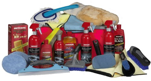 Eurow Complete Car Care Kit with Red Wash Bucket (24 Pieces)