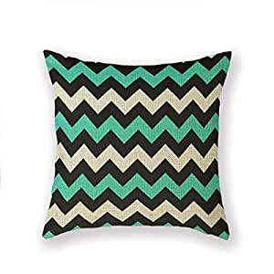 20 Square Throw Pillow Covers : Amazon.com - Customized Standard Pillowcase Turquoise Patterned Chevron Black Throw Pillow 20 X ...