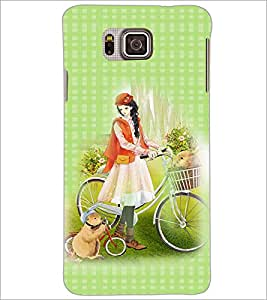 PrintDhaba Princess and Friends D-2820 Back Case Cover for SAMSUNG GALAXY ALPHA (Multi-Coloured)