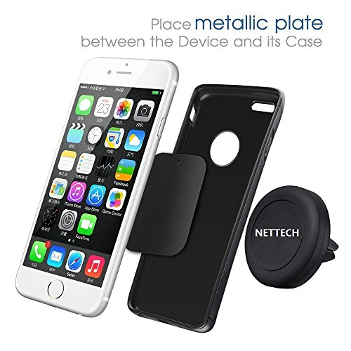 NetTech air vent Car Mount for All Mobile Devices Smart phone Iphone - Retail Packaging - Black