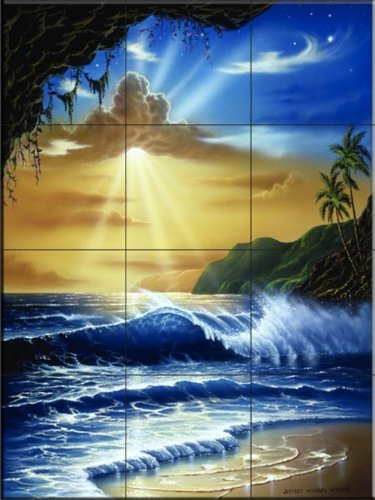 Ocean Paradise by Jeff Wilkie - Kitchen Backsplash / Bathroom wall Tile Mural