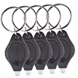 Enjoydeal 10pcs/lot LED Mini Keychain Light Flashlight Camping Light Lamp (Black)