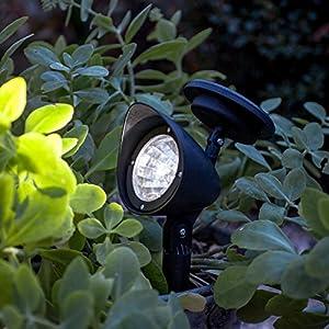 White LED Solar Powered Garden Spot Light by Lights4fun
