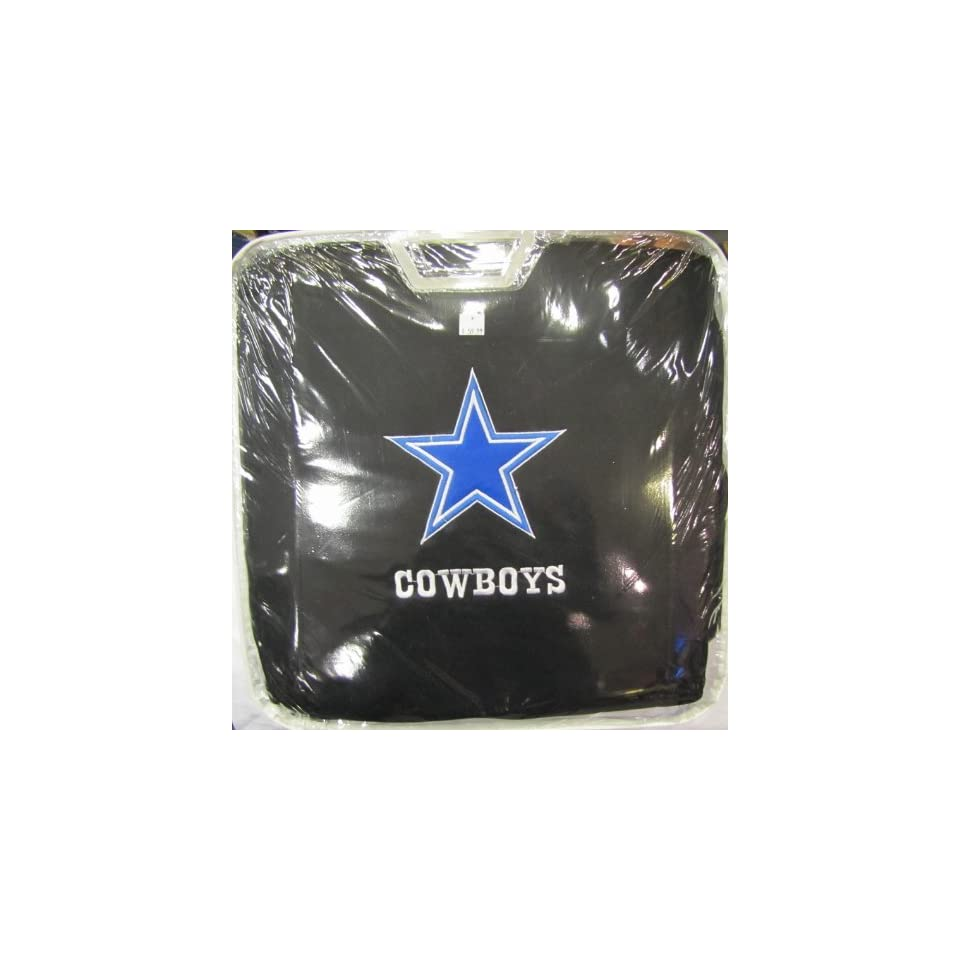 11 Piece NFL Auto Interior Gift Set   Dallas COWBOYS   A Set of 2 Seat Covers, 1 Rear Bench Cover, 1 Steering Wheel, and A Set of 2 Seat Belt Pads Automotive