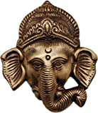 Two Moustaches Brass Ganesha Mask Wall Hanging