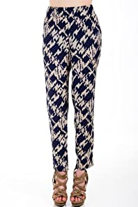 Camo Splotched Loose Pants in Blue