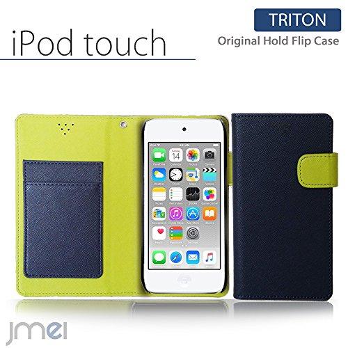 iPod touch 6 5 ケース JMEIオリジナルホールドフリップケース TRITON ネイビー アイポッド タッチ 第6世代 第5世代 スマホ カバー スマホケース スマートフォン