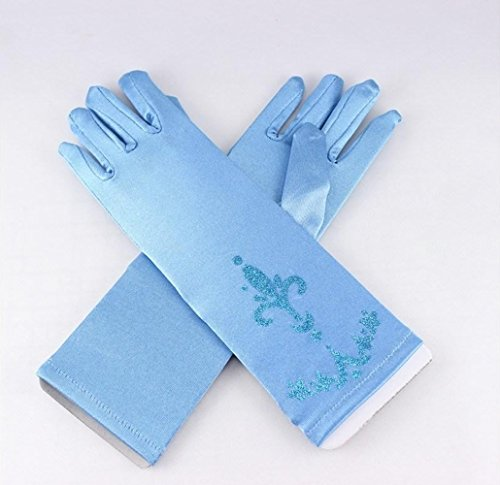 """Dark Blue"" Frozen Elsa & Anna Princess Gloves Halloween Costume**Ships from US**"