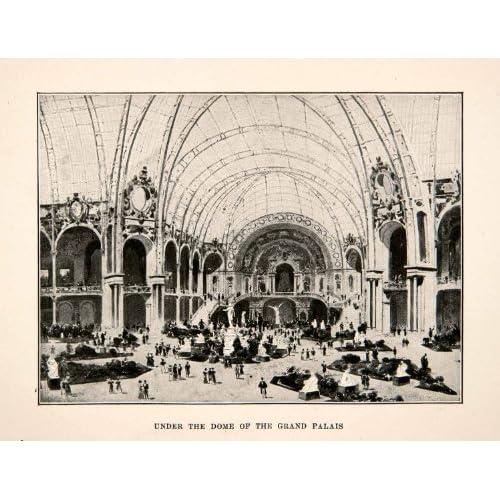 1900 print dome interior grand palais paris france exposition - Exposition grand palais paris ...