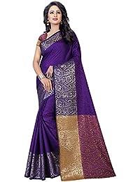 Vatsla Enterprise Women's Cotton Silk Saree (VKALYANI003PURPLE_PURPLE)