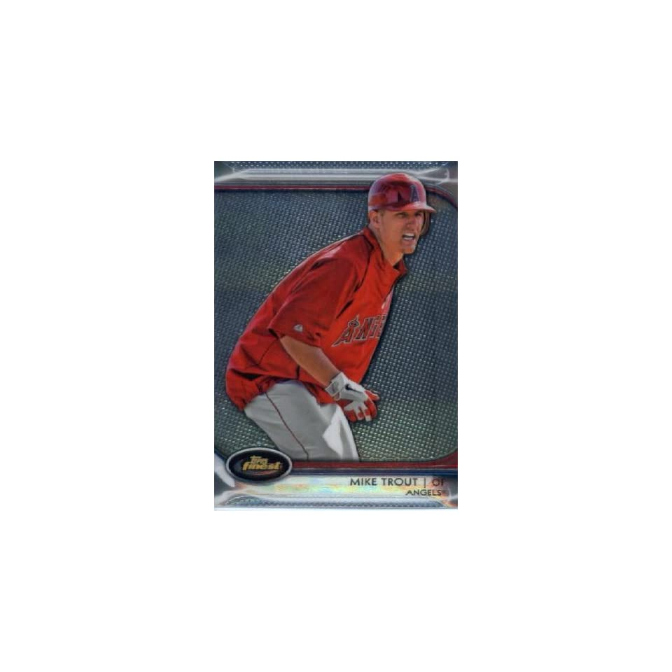 2012 Topps Finest Baseball #78 Mike Trout Angels