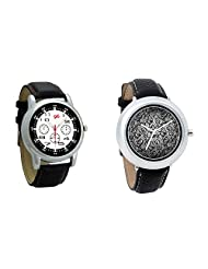 Gledati Men's Black Dial And Foster's Women's Black Dial Analog Watch Combo_ADCOMB0001843