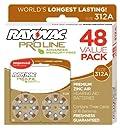 Rayovac Proline Mercury Free Hearing Aid Batteries Size 312 (48)