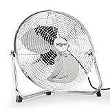 oneConcept Metal Blizzard Windmaschine 35cm Metall-Ventilator Retro Stand-Ventilator in Chrom  silber