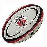 Ballon de Rugby Officiel Replica de Toulouse Blanc/Rouge/Noir - 5...