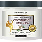 First Botany Cosmeceuticals Coconut Oil Hair Mask for Damaged & Dry Hair, 8.8 fl. oz