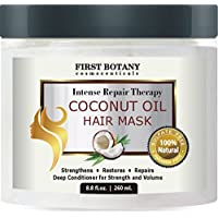 Coconut Oil Hair Mask, 8.8 Fl. Oz. Restorative Hair Mask, Deep Conditioner For Damaged & Dry Hair, Heals & Restructures...