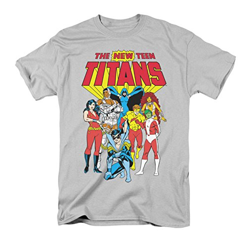DC/NEW TEEN TITANS - Short Sleeve ADULT T-Shirt - SILVER