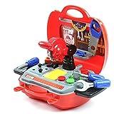 DiBang Werkzeug Spielzeug Werkzeugkoffer Werkzeugkasten mit...