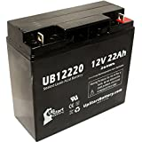 UB12220 Universal Sealed Lead Acid Battery Replacement (12V, 22Ah, 22000mAh, T4 Terminal, AGM, SLA) - Compatible with SUNNYWAY SW12200 Battery