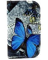 Custodia in Pelle Flip Wallet Case Cover Per una protezione completa per Samsung Galaxy Trend GT-S7560 / Galaxy S Duos S7562 /S7580+Pellicola protettiva e stilo incluso(Ywit-1a18)