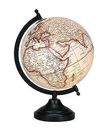 Beige Ocean Decorative Rotating Globe 13 World Geography Earth Home Decor