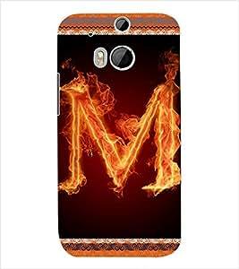 ColourCraft Alphabet M Back Case Cover for HTC ONE M8