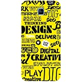 For Samsung Galaxy A8 (2016) Word Pattern ( Word Pattern, Design, Thinking, Good Quotes, Yellow Background ) Printed Designer Back Case Cover By FashionCops