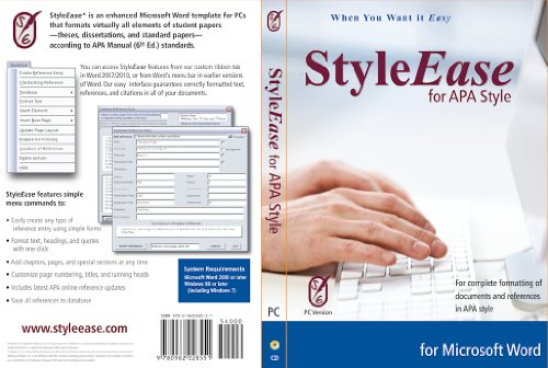 Styleease For APA Style: Version 3 (Perrla Apa Software compare prices)
