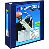 Avery Nonstick Heavy-Duty EZD Reference View 3 Inch Navy Blue Binder (79803)
