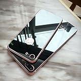 MO&MO LIMITED出品!For iPhone7 iPhone7 Plus 用前後 強化ガラス ガラスフィルム 鏡面加工 液晶保護フィルム 超薄型 0.26mm 硬度9H +メタリックカラー ラウンドエッジ (圆边)ラウンドメタルバンパー ケース 加工 極薄 アルミ バンパー スマホカバーケースポイント10倍 アルミバンパー ケース メタルケース 超薄金属枠 (iPhone7, A:ブラック[0.26mm ラウンド加工 前後 各1枚](バンパー付属していません))