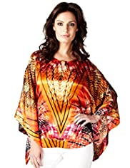 Per Una Speziale Pure Silk Sunset Print Kaftan