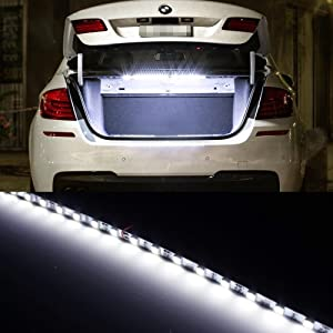 ijdmtoy 18 smd 5050 led strip light for car trunk cargo area or interior. Black Bedroom Furniture Sets. Home Design Ideas