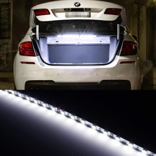 iJDMTOY 18-SMD-5050 LED Strip Light For Car Trunk Cargo Area or Interior Illumination, Xenon White image