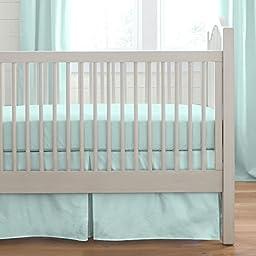 Carousel Designs Solid Seafoam Aqua 2-Piece Crib Bedding Set